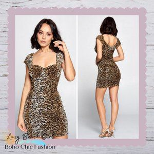 Jaguar Print Mesh Dress